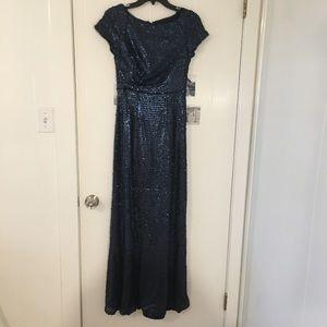 Navy Sequin Gown!
